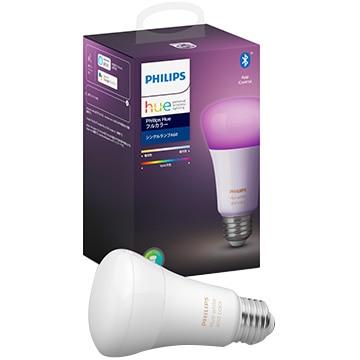 PHILIPS Hue LED電球 フルカラー シングルランプ Bluetooth+Zigbee PLH28CL