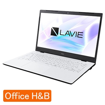 (オフィス付) LAVIE Smart HM Celeron 4GB SSD256GB パールホワイト