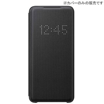 [Galaxy S20純正] LED VIEW COVER Black
