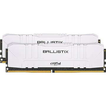 内蔵メモリ Ballistix White 2x16GB (32GB Kit) DDR4 3600MT/s CL16 Unbuffered DIMM 288pin White