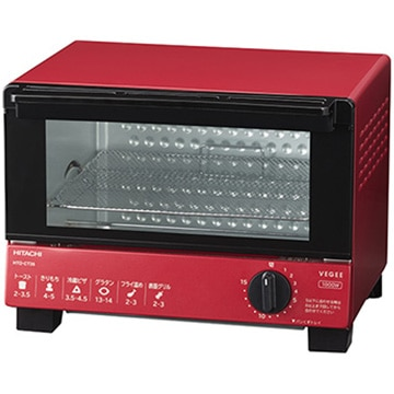 日立 オーブントースター レッド HTO-CT35-R