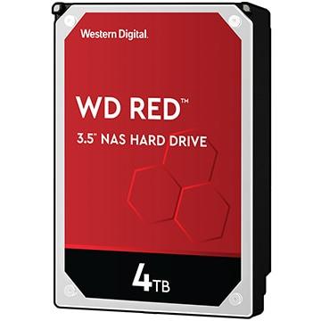 WesternDigital 内蔵ハードディスク NAS用途向け 3.5インチ Red 4TB 5400rpm WD40EFAX