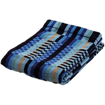nishikawa ■ タオルケット 綿100% 軽い 吸水 ブルー 甘撚り糸使用 RR00050002B