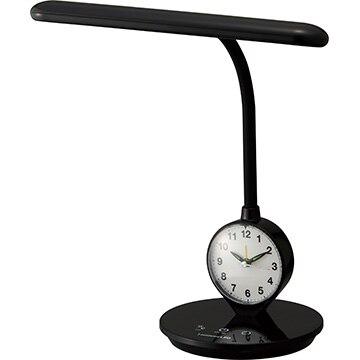 ドウシシャ 目覚まし時計付きLEDデスクライト ブラック DL-R378-BK