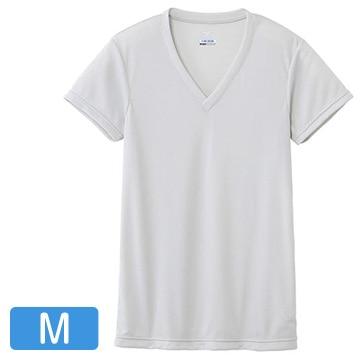 ミズノ ■ドライベクターエブリ Vネック半袖シャツ メンズ ベイパーシルバー M C2JA610104_svM