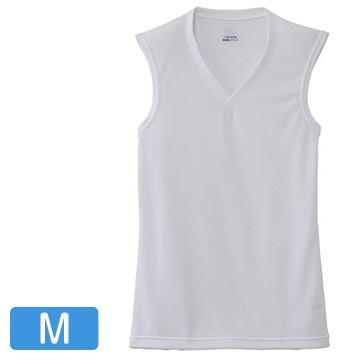 ミズノ ■ドライベクターエブリ Vネックノースリーブシャツ メンズ オフホワイト M C2JA610202_whM