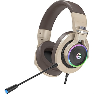 HP USB接続ヘッドセット 7.2ch サラウンド対応 音量調節コントローラー付 GOLD H500GS-GOLD
