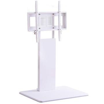 FENES 壁寄せテレビスタンド ロー固定タイプ ホワイト WAT-L-WH