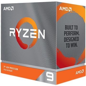 AMD Ryzen 9 3900XT W/O cooler (12C24T3.8GHz105W) 100-100000277WOF
