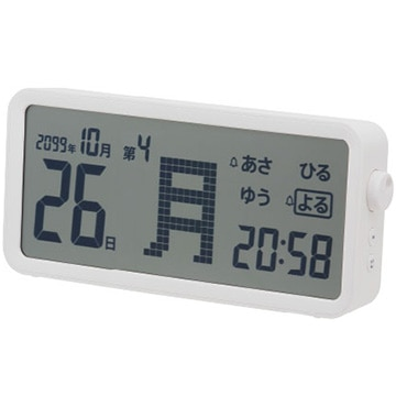 キングジム デジタル日めくりカレンダー AM60WH