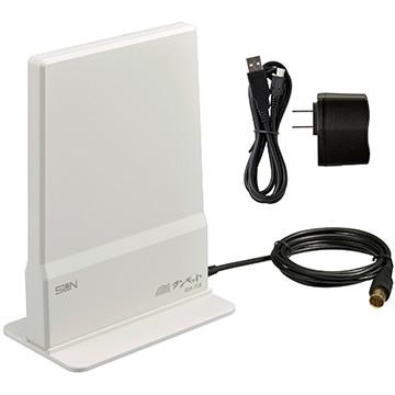 サン電子 地上デジタル放送用ブースタ内蔵室内アンテナ アイボリーホワイト IDA-7CB-IW