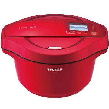 SHARP ヘルシオ ホットクック 2.4L 電気無水鍋(無線LAN/音声発話搭載) レッド系 KN-HW24F-R
