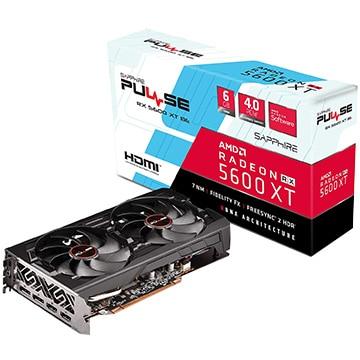 SAPPHIRE ■PULSE RADEON RX 5600 XT BE 6G GDDR6 DUAL HDMI / DUAL DP OC W/BP (UEFI) SA-RX5600XTPULSE-6GBGDR6BE/11296-05-20G