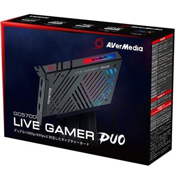 AVerMedia TECHNOLOGIES ゲームキャプチャー デュアル1080p/60fps Live Gamer DUO 4K対応 GC570D