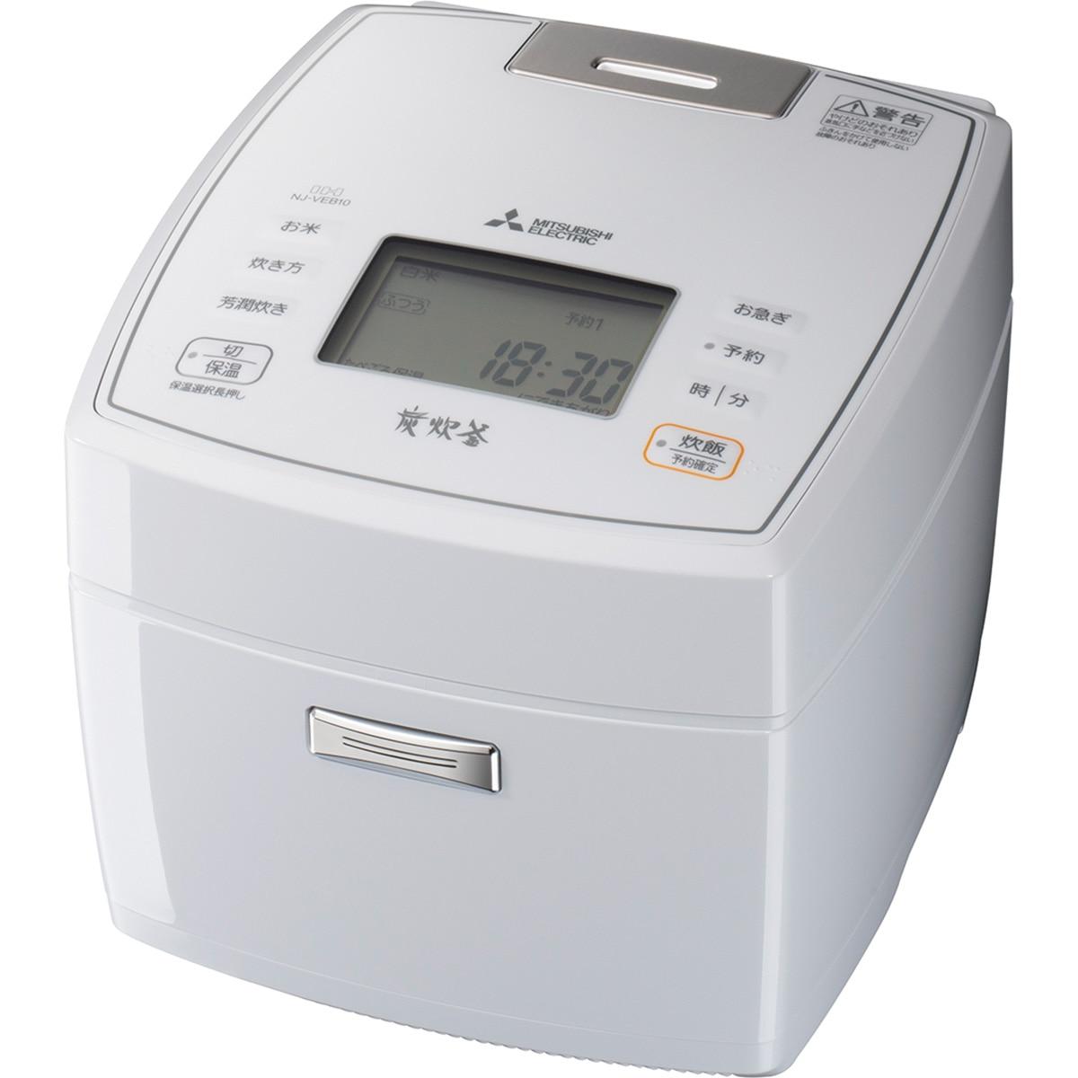 三菱電機 IH炊飯器 炭炊釜 5.5合炊き 月白 NJ-VEB10-W