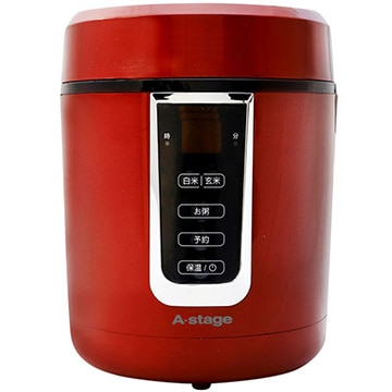 A-Stage マイコン式炊飯器 1.5合炊き レッド GRC-H15R