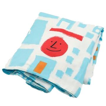 西川 ■アツコマタノ ATSUKO MATANO 「笑う家」柄 掛け布団カバー ブルー シングル PI00700633B