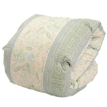 西川 ■ホワイトダックダウン85% 羽毛掛け布団 シングル グリーン 保温性 軽い 抗菌加工 150×210cm KA00002001A2