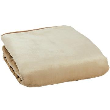 広電 電気掛敷毛布 防ダニ機能付き フランネル ベージュ 188×130cm CCBR805CD