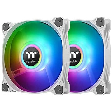 Thermaltake PCファン Pure Duo 14 ARGB White -2Pack- CL-F098-PL14SW-A