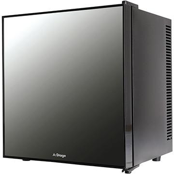 A-Stage 1ドアミラーガラス冷蔵庫 20L ブラック ペルチェ式 【配送のみ設置無し 軒先渡し】 AR-20L01MG