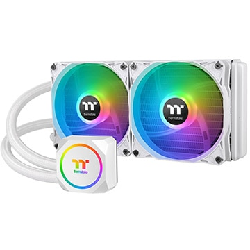 Thermaltake CPUクーラー TH240 ARGB Sync Snow Edition CL-W301-PL12SW-A