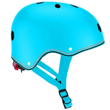 DADWAY ■LEDライト付きヘルメット/48-53/スカイブルー WKGB505101