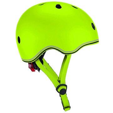 DADWAY ■LEDライト付きヘルメット/45-51/ライムグリーン WKGB506106