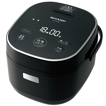 SHARP マイコン炊飯器 黒厚釜 3合炊き ブラック系 KS-CF05C-B
