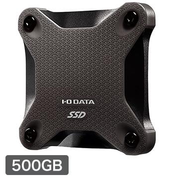 I-ODATA USB 3.1 Gen 1対応ポータブルSSD 500GB スモーキーブラック [PS5メーカー動作確認済] SSPH-UT500K