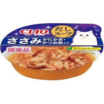 いなばペットフード 株式会社 ■CIAO このままだしスープ ささみ かにかま・かつお節入り 60g NC-53