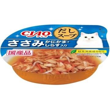 いなばペットフード 株式会社 ■CIAO このままだしスープ ささみ かにかま・しらす入り 60g NC-54