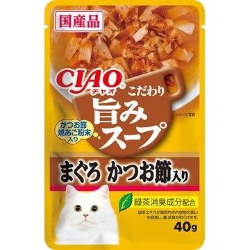 いなばペットフード 株式会社 ■CIAO 旨みスープパウチ まぐろ かつお節入り 40g IC-354