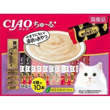 いなばペットフード 株式会社 ■CIAO ちゅ~る 贅沢バラエティ 14g×40本 SC-185