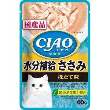 いなばペットフード 株式会社 ■CIAO パウチ 水分補給 ささみ ほたて味 40g IC-330