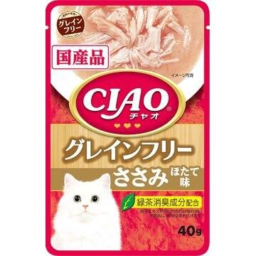 いなばペットフード 株式会社 ■CIAO パウチ グレインフリー ささみ ほたて味 40g IC-364