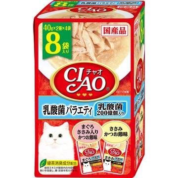 いなばペットフード 株式会社 ■CIAO パウチ 乳酸菌バラエティ 40g×8袋 IC-387