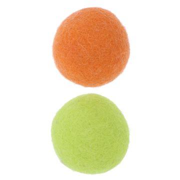 株式会社 ペティオ ■ウールボール オレンジ/グリーン A26141