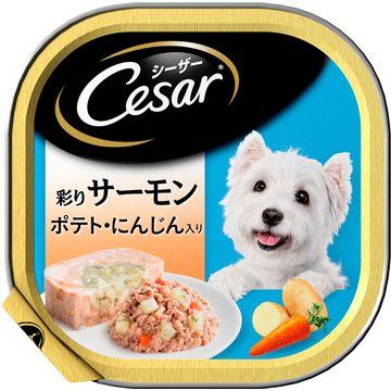 マースジャパンリミテッド ■シーザー サーモン風味 ポテトとにんじん入り 100g CE36N