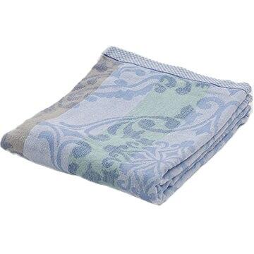 西川 ■タオルケット シングル 綿100% コットン 吸水 140×190cm ブルー FR01030010B