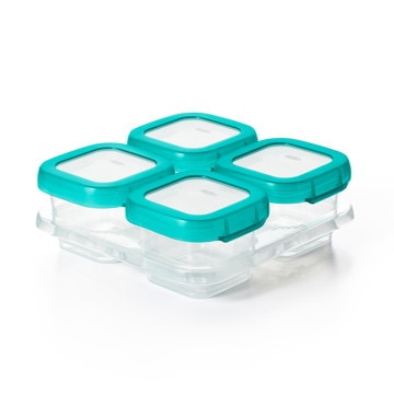 OXO Tot ■ベビーブロック フリーザーコンテナ M 4個入り ティール FDOX61130000
