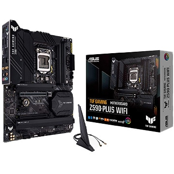 ASUS マザーボード Intel Z590搭載 ATX TUFゲーミング Z590-PLUS WIFI TUF/G/Z590-PLUS/WIFI