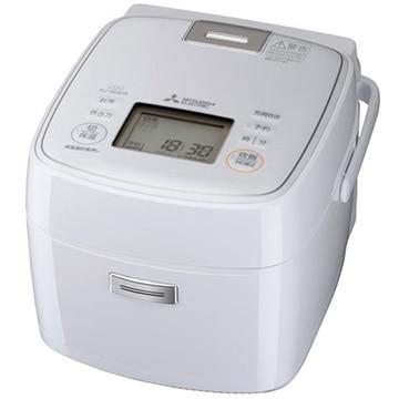 三菱電機 IH炊飯器 備長炭 炭炊釜 3.5合炊き 月白 NJ-SEB06-W