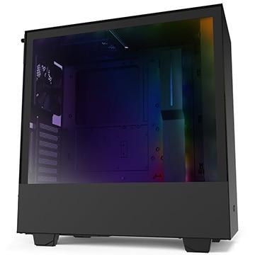 NZXT PCケース HH510i ミドルタワー RGB LED発光&ファン制御機能搭載 [ Black & Black ] CA-H510I-B1