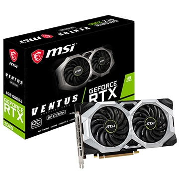 MSI グラフィックボード GeForce RTX 2060 VENTUS GP OC RTX2060VENTUSGPOC