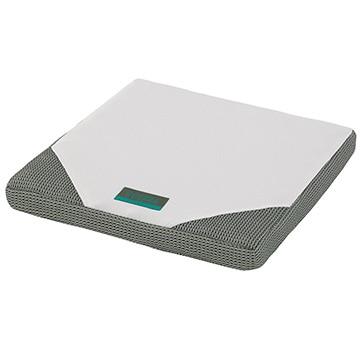 西川 ■SUYARA クッション プロファイル加工 凹凸 点で支える 40×40×4cm シルバー 245510136760