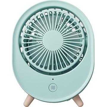 PIERIA 保冷材付き 充電式冷風扇 ブルー