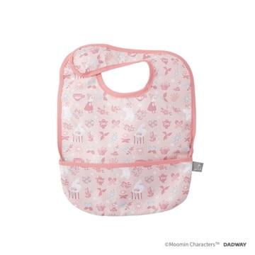 MOOMIN BABY ■お食事ビブ/フラワーブロック(ピンク) BBMB003133200