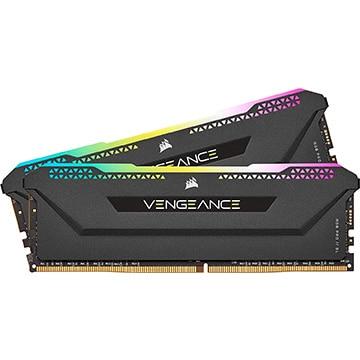 【送料無料】Corsair VENGEANCE RGB PRO SL 16GB (2x8GB) DDR4 DRAM 3600MHz C18 メモリキット ブラック CMH16GX4M2D3600C18