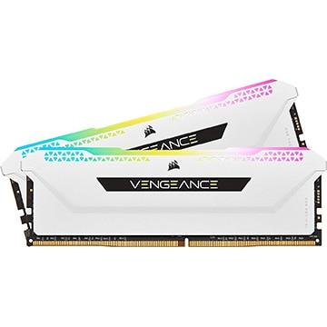 【送料無料】Corsair VENGEANCE RGB PRO SL 16GB (2x8GB) DDR4 DRAM 3600MHz C18 メモリキット ホワイト CMH16GX4M2D3600C18W